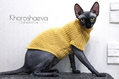 Sphynx Hand Knitted Cat Monochromatic Tank Top, Soft Tank Top For Cat Clothes, Knit Warm Cat Sweater For Gift Love Sphynx, Cat Clothing Sphynx Cat Clothes, Knitted Cat, Cat Sweaters, Handmade Shop, Gifts For Family, Hand Knitting, Etsy Seller, Crochet Hats, Creative Ideas