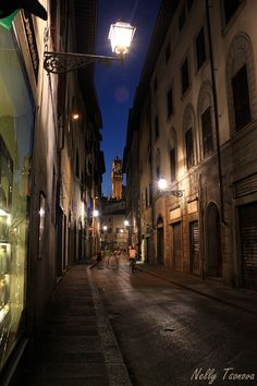 The streets of Florence at night - Italy
