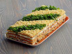 Sałatka warstwowa z tuńczykiem - na krakersach - Kuchnia na Wypasie Avocado Toast, Curry, Food And Drink, Bread, Breakfast, Recipes, Impreza, Party, Salads