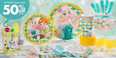 Frozen Fever Party Supplies - Frozen Fever Birthday - Party City