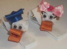 Disney's Donald & Daisy Duck Hair Clips Set of 2 by JENSTARDESIGNS, $6.75