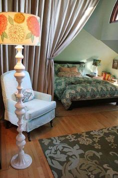 drapes to divide room spaces
