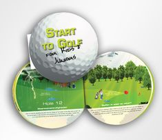 Start to Golf for Kids and Juniors. #book #manual #howto #golf #kids #golfball #design #concept #illustration #illustrations #EddyEnCaddy #layout #brochure #caratcreations #benseys