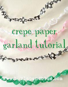 Crepe Paper Garland.