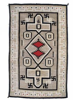 Navajo 'Whirling Log' rug; a non-Nzai use of the swastika. (whirlinglog.com)