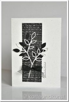 For the dark side of life (card and art) - For the dark side of life Informations About Für die Schattenseiten des Lebens (Karte und Kunst) Pi - Sympathy Cards, Greeting Cards, Fabric Crafts, Paper Crafts, Scrap Fabric, Card Making Templates, Karten Diy, Embossed Cards, Color Card