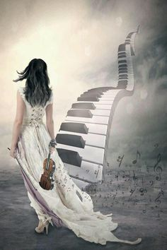 ♫Musical Fantasy♫ An Urban Art District favorite! Sound Of Music, Music Is Life, Das Piano, Instruments, All About Music, Stairway To Heaven, Music Quotes, Music Lovers, Belle Photo