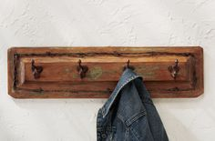 Old Door Panel Coat Rack }} I bet my son could make this for you @Chelsea Denise