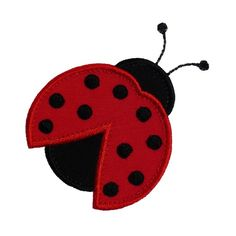 "Ladybug Beetle Appliques Machine Embroidery Designs Applique Pattern in 4 sizes 3"", 4"", 5"" and 6"""