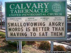 real church signs....Yup!