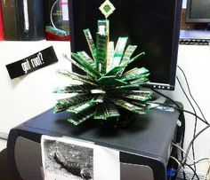 Epic IT Geek Christmas Tree