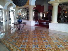 Cuban Cement Tile for a dazzling foyer or entry | Avente Tile