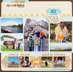 On The Road Again NSD Scrapbook Layout Page Idea