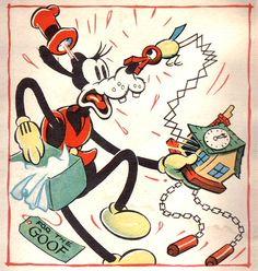 Pateta recebe um presente de Natal, ilustração Walt Disney.