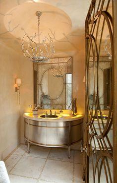 Gorgeous powder room | Slovack Bass, bathroom interior design ideas and decor