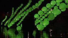 Algues Lumineuses, Aerosculpture Fête des Lumières, Lyon, 2011