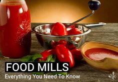 A food mill both grinds the food you want to keep and rejects the bits you want to avoid eating. Here are its uses and how to mill apples, tomatoes, and potatoes. Fresh Tomato Recipes, Food Mills, Marzano, Quick Meals, Frugal Meals, Canning Recipes, Vintage Recipes, Meals For One, Diy Food