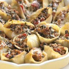 Amazing!!! Sausage Stuffed Shells Recipe with Spinach Recipe - ZipList