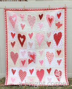 Friendship Heart quilt by Andy at A Bright Corner
