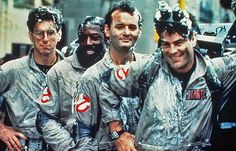 "Harold Ramis, Ernie Hudson, Bill Murray and Dan Aykroyd in the 1984 original ""Ghostbusters."""