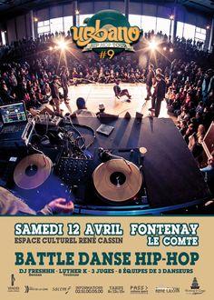 Urbano Tour, battle Hip-Hop. Le samedi 12 avril 2014 à Fontenay-le-comte.