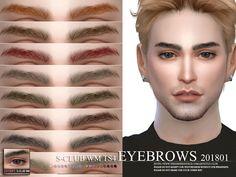Eyebrows, 15 swatches. Thank you.  Found in TSR Category 'Sims 4 Facial Hair'