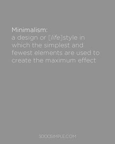 What is minimalism anyway?