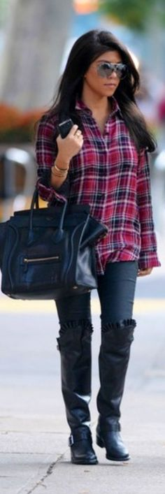 Kourtney Kardashian.  Minus the boots!