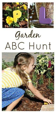 Garden ABC Hunt....fun letter activity for toddlers and preschoolers