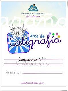 """Cuadernillo de Caligrafía: """"Las vocales"""" Handwriting, Album, Map, Words, Teaching Resources, Lyrics, Calligraphy, Hand Lettering, Location Map"""