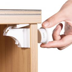 Magnetic Cabinet Lock.  No more damaging existing furniture, no drilling, and no screwdrivers. Just a simple installation using the strong 3M adhesive, saving time and complications with simple and friendly magnetic locks. The magnetic cabinet locks are hidden and remain unseen after installation. The magnetic safety lock can fit any cabinet style, doors, and drawers. Magnetic Lock, Saving Time, Childproofing, Cabinet Styles, Locks, Drill, Adhesive, Magnets, Drawers