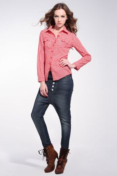 2012 style shirt, made of cotton, featuring long sleeve styling, over-turned collar, front button fastening, twin chest pockets, button detail cuff.