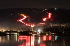 It's a Big Bear Tradition - the annual Torchlight Parade down the Snow Summit Ski Slopes, on New Year's Eve!