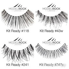 We have the largest selection of false eye lashes in store. Grab 3 pairs of Kit Ready lashes from Modelrock for $15.00 and never get caught lashless #makeupnet #modelrocklashes #falseeyelashes #pucklestreet #instorespecials