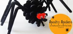 Make these super easy spooky spiders as a fun Halloween craft for kids. All you need are a few simple and inexpensive items to make this activity a success!