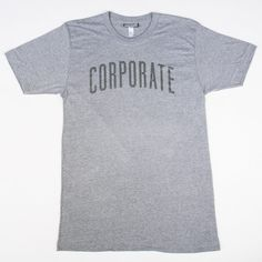 Corporate Arch Tee SS17 (Grey) - $32
