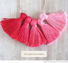 DIY Ombre Dyed Tassel Necklace from Oh the Lovely Things