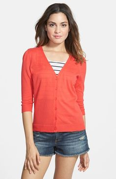 Love this cardigan. They are seasonless and a great way to add texture and color. Frenchi cardigan from Nordstrom   Young and Hungry