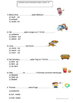 Reflexive Verben, German Resources, German Grammar, German Language Learning, Learn German, Alphabet Worksheets, Prefixes, English Lessons, Homeschool