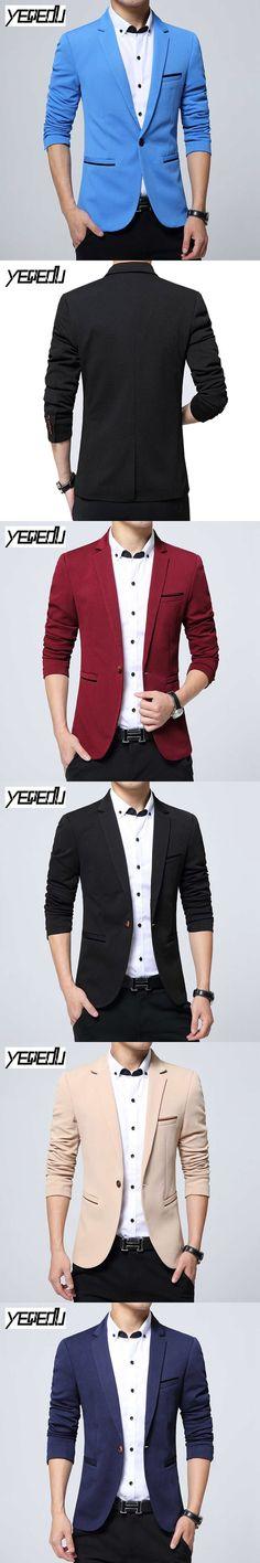 #2436 2017 Casual blazer men Plus size costume homme Single button Slim fit Men suit jacket Slim fit V-neck Chaquetas hombre 5XL