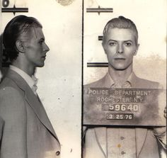 David Bowies mugshot after being arrested in Rochester NY for possession of marijuana. [PHOTO: Provided by Todd Hess]