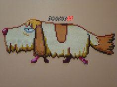 Hin the dog Howl's Moving Castle perler beads hama