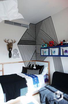 A corner of K's room. ✨✨full room makeover up soon!!! happy weekend! #harfnoondesignstudio #littleman #bigboy#makeover #blue #indigo #white #red #color #superkid #camera#animals #moose #fun #interiors #boyrooms#instainteriors #instadecor #instalikes #dubai #uae#abudhabi #homedecor #homedesign #kidsrooms#middleeast