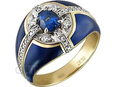 Перстень из комбинированного золота 750 пробы. Арт. 083011