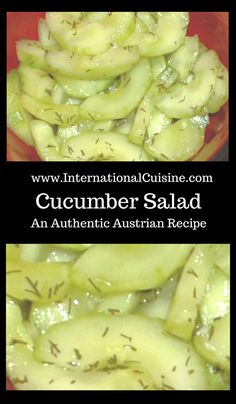 The 34 best austria food travel and culture images on pinterest a super easy and delicious austrian cucumber salad recipe sweet and sour yum forumfinder Image collections