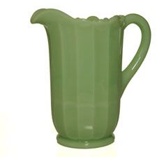 "Paneled Jadeite Pitcher 8.5"" H x 8.25"" W  Still made in USA, hand pressed from original 1930's molds"