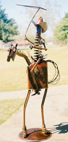 Riding cowboy recycled