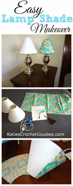 DIY: Recovering Lamp Shades - Katie's Crochet Goodies