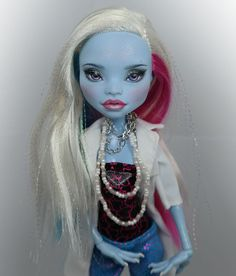 "** Ixia ** 11"" 1/6 OOAK Custom Monster high Abbey Bominable doll Repaint by Yu #Dolls"