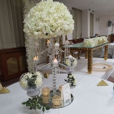 Wedding Centerpieces, Wedding Decorations, Table Decorations, Crystal Candelabra, Event Decor, Wedding Flowers, Chandelier, Events, Ceiling Lights